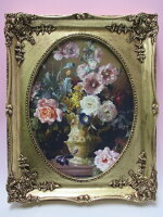 クラシック額絵/花器の花♪pi515