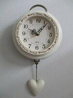 ハート振り子時計wa186