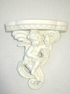 ロマンチック姫系天使壁飾り壁掛け壁デコレーションブラケットオブジェウォールデコ雑貨エンジェル置物オーナメント天使雑貨コンソールエンジェルローズブラケット♪an726l