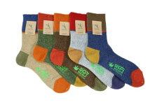 AHOPEHEMPアホープヘンプ靴下ワンバイワンリブ3面切り替えヘンプウールソックスメンズHSX-239