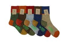 AHOPEHEMPアホープヘンプ靴下ワンバイワンリブ3面切り替えヘンプウールソックスレディースHSX-239