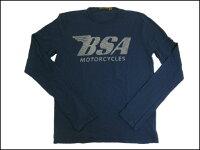 JOHNSONMOTORS/ジョンソンモータースL/STシャツ「BSA」デッドネイビー