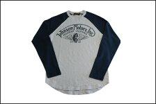 JOHNSONMOTORS/ジョンソンモータースL/SベースボールTシャツ「ウイングホイール」