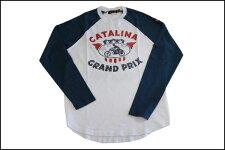 JOHNSONMOTORS/ジョンソンモータースL/SベースボールTシャツ「カタリナグランプリ」オプティックホワイト