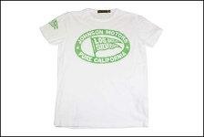 JOHNSONMOTORS/ジョンソンモータースS/STシャツ「ピュア」オプティックホワイト/グリーン