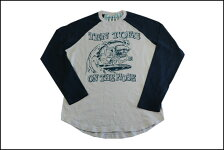 SUNSETSURF/サンセットサーフベースボールTシャツ「サーフフィンク」ホワイトサンドBYジョンソンモータース