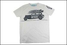 SUNSETSURF/サンセットサーフS/STシャツ「サーフチェイサーズ」ホワイトサンドBYジョンソンモータース