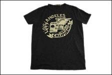 JOHNSONMOTORS/ジョンソンモータースS/STシャツ「ロスカリフォルニア」ブラックタール