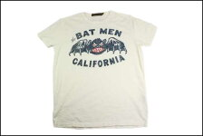 JOHNSONMOTORS/ジョンソンモータースS/STシャツ「バットマン」ダーティーホワイト
