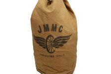JOHNSONMOTORSジョンソンモータースコットンキャンバスランドリーバッグ「JMMC」キャメル