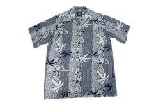 KONABAYHAWAIIコナベイハワイS/Sアロハシャツ「バンブー」ネイビー