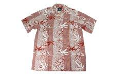 KONABAYHAWAIIコナベイハワイS/Sアロハシャツ「バンブー」レッド