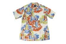 KONABAYHAWAIIコナベイハワイS/Sアロハシャツ「フラガール」ホワイト
