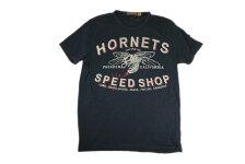 JOHNSONMOTORSジョンソンモータース半袖Tシャツ「ホーネッツ」ヴィンテージブラック