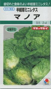 歯切れと食味のよい半結球ミニレタス!野菜種半結球ミニレタスマノア 2mlタキイ育成