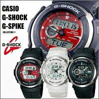 【国内正規品】【CASIO/G-SHOCK】【カシオ/Gショック】【G-SPIKE/Gスパイク】腕時計うでどけいメンズmen'sレディースLadie'sデジタルブラックレッドホワイトアナログデジタルアナデジデジアナコンビネーションG-300-3AJFG-300-4AJFG-300LV-7AJF