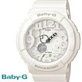 【あす楽】CASIO/BABY-G/カシオ ベビーG ネオンダイアルシリーズ 腕時計 うでどけい レディース LADIE'S ホワイト 白 BGA-131-7B