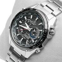 【CASIO/EDIFCE】タフソーラー搭載カシオエディフィスメンズうでどけい腕時計エディフィスEQS-500EQS500men'sラバーステンレスクロノグラフ