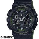 G-SHOCKCASIO腕時計メンズGA-100L-1AデジアナデジタルアナログBIGFACEブランドうでどけいクロノグラフG−SHOCKスペシャルカラーレイヤードカラーブラックxカーキ
