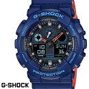 G-SHOCKCASIO腕時計メンズGA-100L-2AデジアナデジタルアナログBIGFACEブランドうでどけいクロノグラフG−SHOCKスペシャルカラーレイヤードカラーブラックxブルーxオレンジ