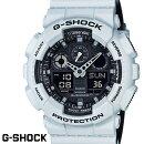 G-SHOCKCASIO腕時計メンズGA-100L-7AデジアナデジタルアナログBIGFACEブランドうでどけいクロノグラフG−SHOCKスペシャルカラーレイヤードカラーブラックxホワイトグレー