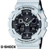 G-SHOCK CASIO 腕時計 メンズ GA-100L-7A デジアナ デジタル アナログ BIG FACE ブランド うでどけい クロノグラフ G−SHOCK スペシャルカラー レイヤードカラー ブラックxホワイトグレー