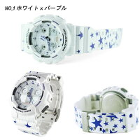 ★限定モデル数量限定★カスタムG-SHOCKCASIO腕時計メンズGA-100デジアナデジタルアナログBIGFACEブランドうでどけいクロノグラフG−SHOCKスペシャルカラーブラックホワイトパープル白黒