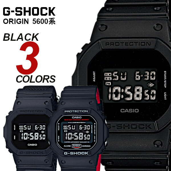 腕時計, メンズ腕時計 CASIO G-SHOCK ORIGIN gshock 5600 DW-5600BB-1