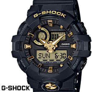 CASIO G-SHOCK ジーショック メンズ 腕時計 GA-710B-1A9 ガリッシュカラー ブラック ゴールド カシオ