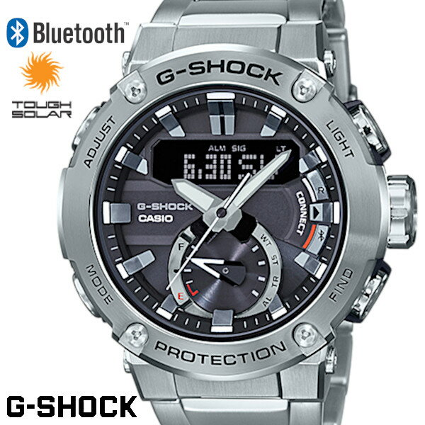 腕時計, メンズ腕時計 G-SHOCK GST-B200D-1A Bluetooth G-STEEL
