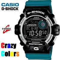 【CASIO/G-SHOCK】【CrazyClors/クレイジーカラー】【送料無料/あす楽対応】【ブラックxブルー】カシオGショックジーショックメンズ腕時計G-8900SC-1BG8900SC-1B