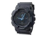 【CASIO/G-SHOCK】【送料無料】【ブラック/ブルー】【アナデジコンビネーション】カシオ腕時計G-ショックアナログデジタルGA-100C-8GA100C-8うでどけいメンズデジタルmen's黒青