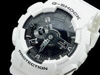 【CASIO/G-SHOCK】【送料無料】【ブラック/ホワイト】【アナデジコンビネーション】カシオ腕時計G-ショックアナログデジタルGA-110GW-7GA110GW-7うでどけいメンズデジタルmen's黒白