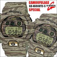 G-SHOCK/ジーショックカモフラージュ/迷彩/グリーンメンズ腕時計GD-X6900TC-5CASIO