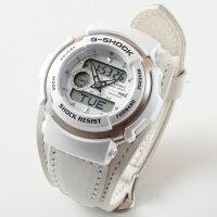 G-SHOCKGショックジーショック限定モデルG-300カスタムG-SHOCKレザー白黒赤メンズ腕時計