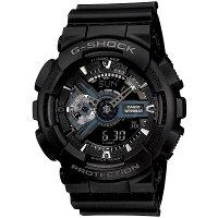 CASIOG-SHOCKジーショックメンズ腕時計GA-110-1BJFブラックアナデジ時計