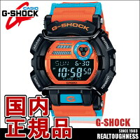 CASIOG-SHOCKジーショックメンズ腕時計GD-400DN-4JFDustyNeonSeriesダスティーネオンシリーズオレンジブルーネオンカラー