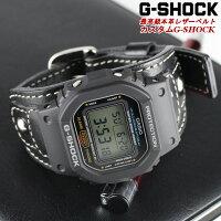 G-SHOCK限定ジーショックカスタムレザーCASIO黒メンズ腕時計うでどけい革gshockG−SHOCKブラック