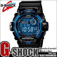 G-SHOCKジーショックメンズ腕時計G-8900A-1ブラックブルースタンダードモデルCASIOうでどけい
