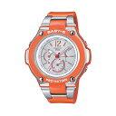 CASIO/BABY-G/カシオ ベビーG tripper 電波ソーラー ソーラー電波 腕時計 うでどけい レディース LADIE'S シルバー オレンジ BGA-1400-4BJF