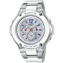 CASIO/BABY-G/カシオ ベビーG tripper 電波ソーラー ソーラー電波 腕時計 うでどけい レディース LADIE'S シルバー ホワイト BGA-1400-7BJF