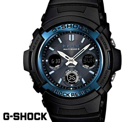G-SHOCK ジーショック gーshock 腕時計アナデジ ソーラー 電波 ブラック ブルー AWG-M100A-1A G−S...