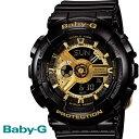 BABY-G カシオ ベビーG ビッグケース 腕時計 うでどけい レディース LADIE'S ブラック ゴールド BA-110-1A CASIO BABY−G・・・