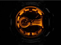 Gショックロータリースイッチメンズ腕時計GA-400-7A白カシオCASIOうでどけいG-SHOCKgーshockジーショック黒ブラック