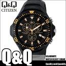 シチズンキューアンドキューCITIZENQ&Qソーラー腕時計SOLARMATE(ソーラーメイト)アナログ表示クロノグラフ機能付き10気圧防水ウレタンバンドイエローH034-003メンズ
