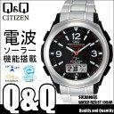 腕時計 電波 腕時計 電波 CITIZEN Q&Q MD04-205 シチズン メンズ 腕時計 電波 腕時計 電波 シルバー