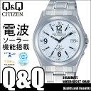 腕時計 電波ソーラー 腕時計 電波ソーラー CITIZEN Q&Q 電波ソーラー腕時計 アナログ クロノグラフ HG08-204 メンズ