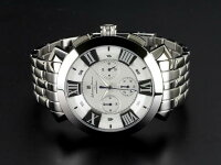 腕時計メンズサルバトーレマーラSALVATOREMARRASM14107-SSWHホワイトクロノグラフ防水