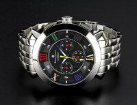 腕時計メンズサルバトーレマーラSALVATOREMARRASM14107-SSBKCLブラックマルチカラーシルバークロノグラフ防水