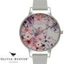 【あす楽送料無料】OliviaBurtonオリビアバートン腕時計うでどけいレディース本革レザーローズゴールドクオーツグレイOB15FS76Grey&SilverEnchantedGarden
